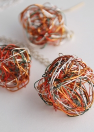 Electrical Ball Earrings, Gallery 37, Oldham
