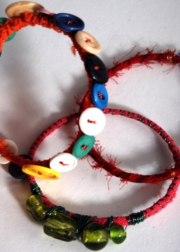 Fabric and Button Bracelets, Gallery37, Oldham