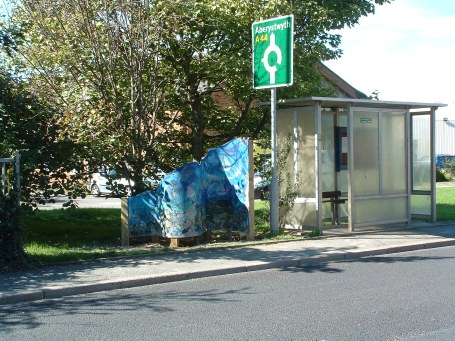 sea panel and bus stop