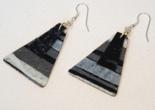 Triangle earrings Bags2riches