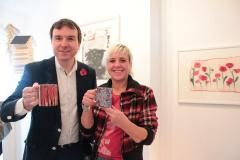 Me and Andrew Griffiths MP with Meikie Designs Mugs of tea 2