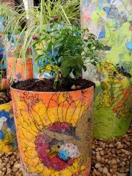 Garden installation Recycled plastics