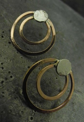 Tessa copper earrings