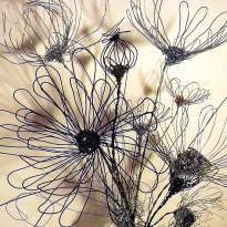 Wire Flowers Square
