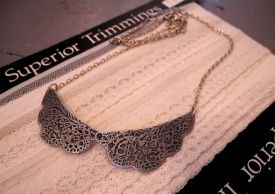 Lace Inspired articulated necklace
