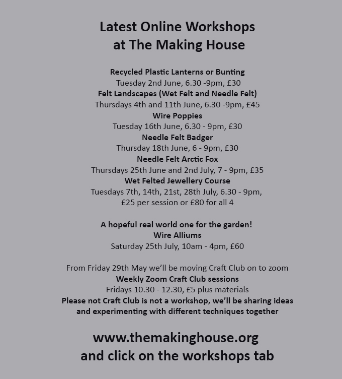 Workshops at The Making House
